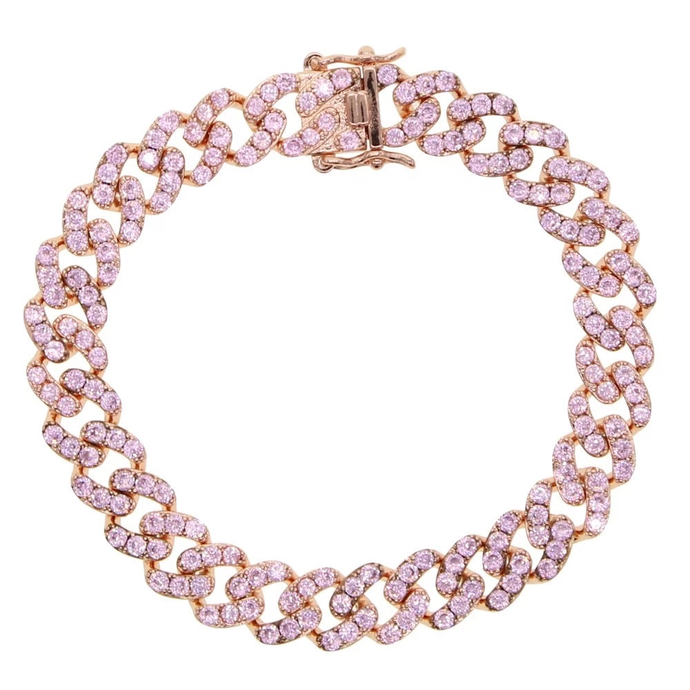 Load image into Gallery viewer, Barbie Pink Cuban Bracelet