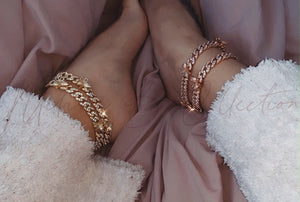 Gold Butterfly Cuban Anklet