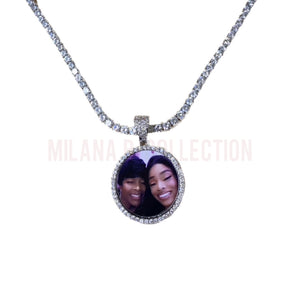 Load image into Gallery viewer, Memory Pendant Tennis Necklace