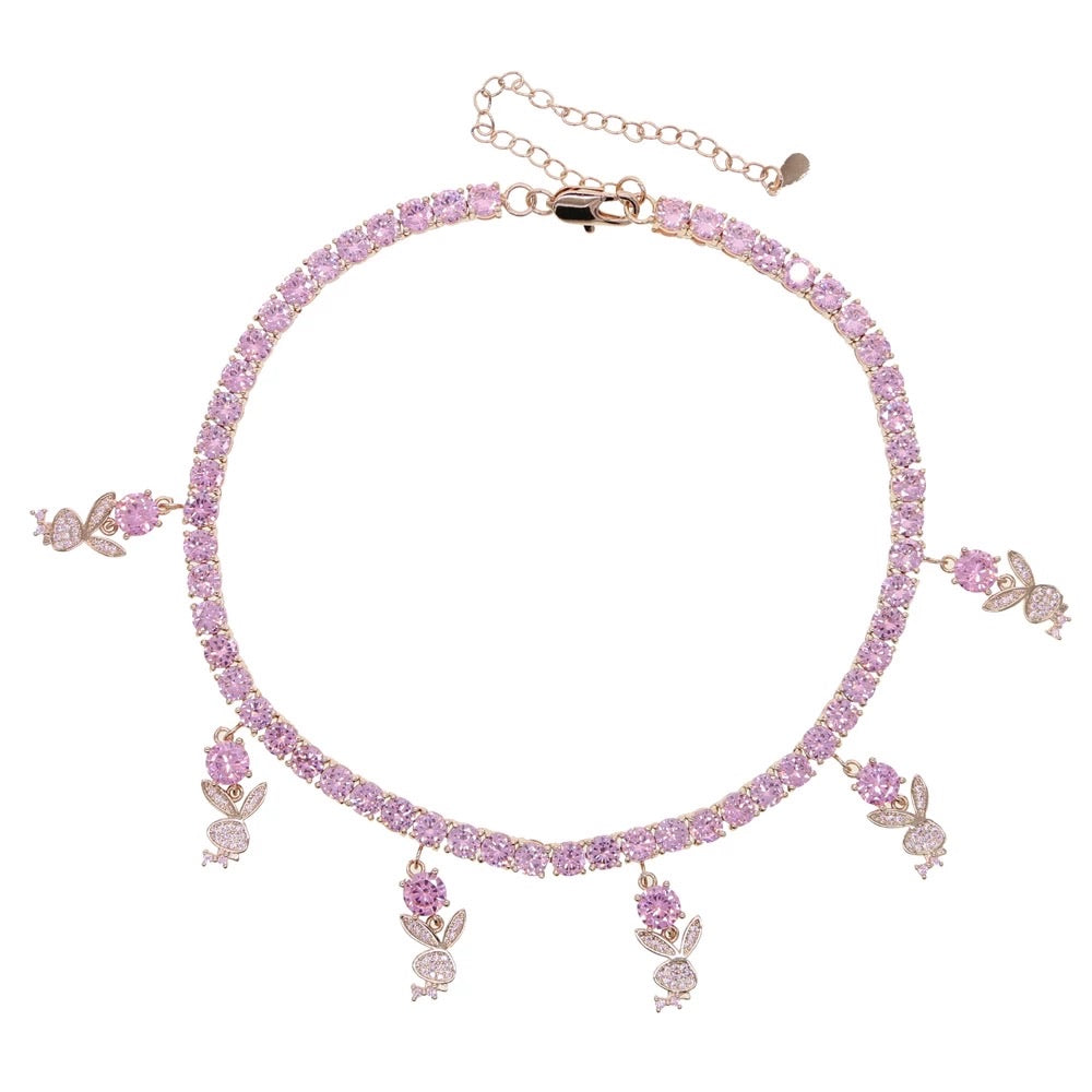 Icy Bunny Choker | Pink