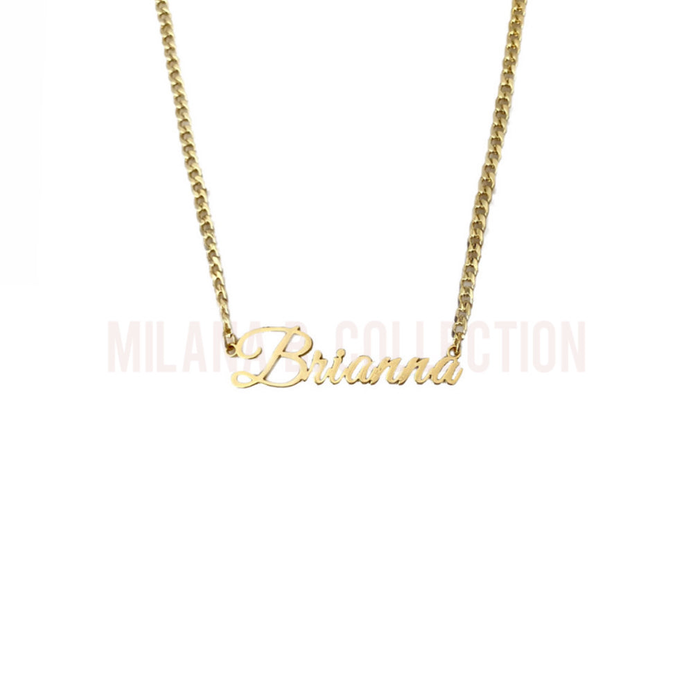 Gold Nameplate Necklace II