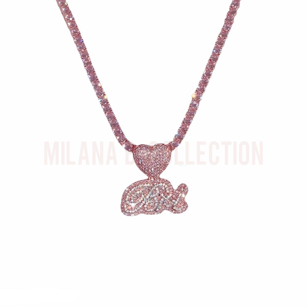 MBC Lovely Nameplate Tennis Necklace