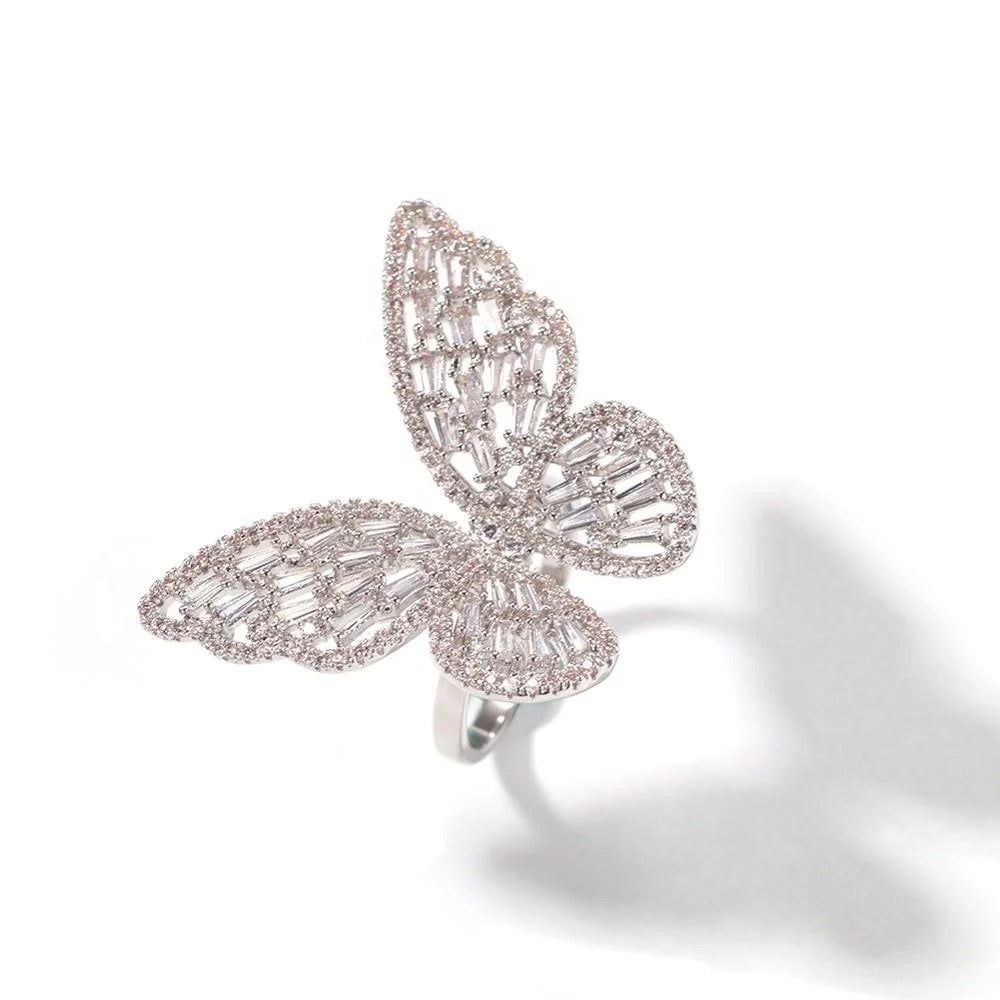 Icy Butterfly Ring