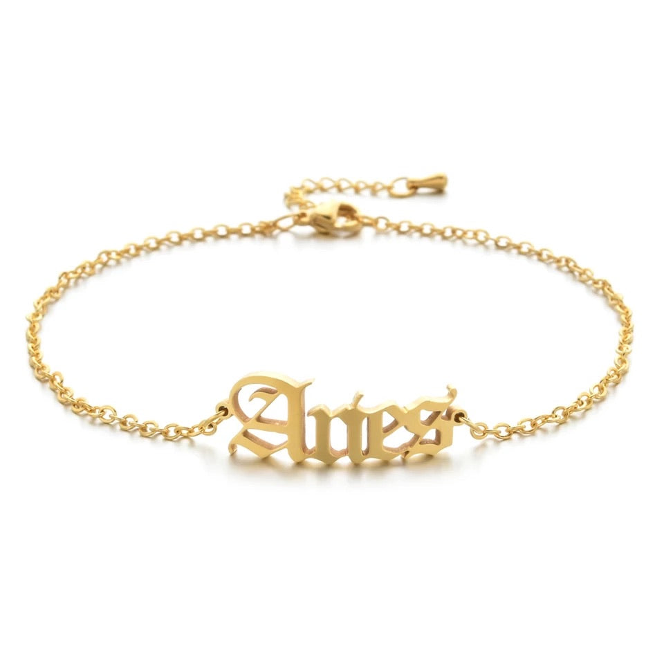 Load image into Gallery viewer, Gold Zodiac Anklet