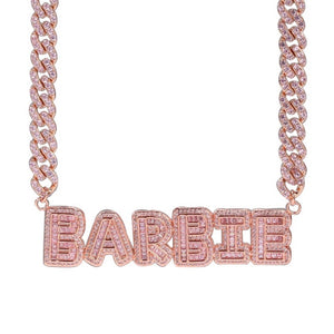 Load image into Gallery viewer, Keaira Nameplate Cuban Link | Pink