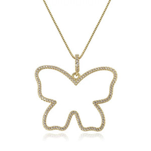 Butterfly Frame Necklace