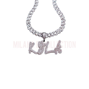 Icy Girl Nameplate Cuban Link