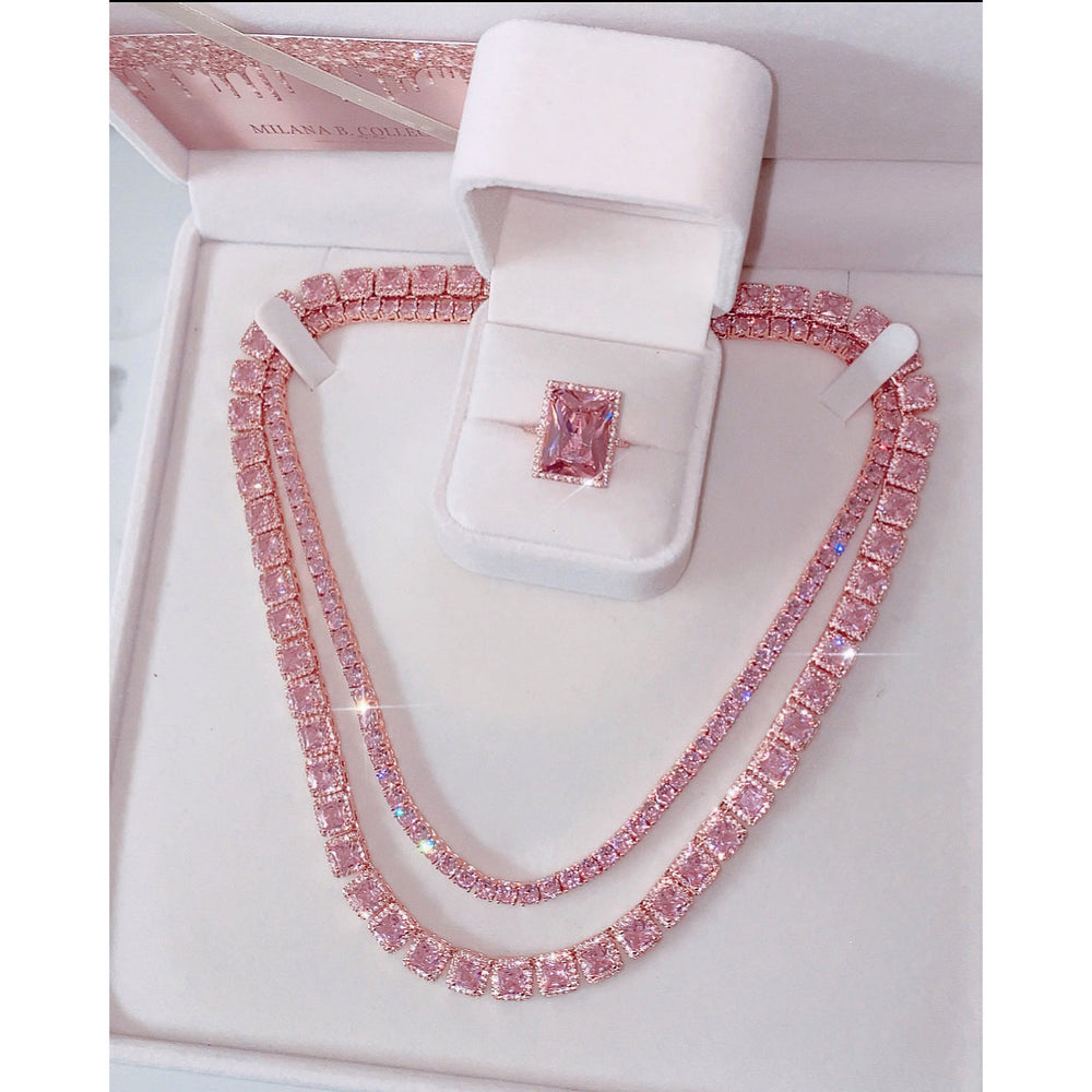 Icy Barbie Square Necklace
