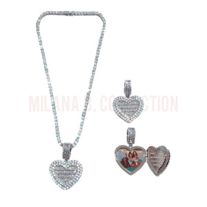 Load image into Gallery viewer, Custom Heart Locket Necklace