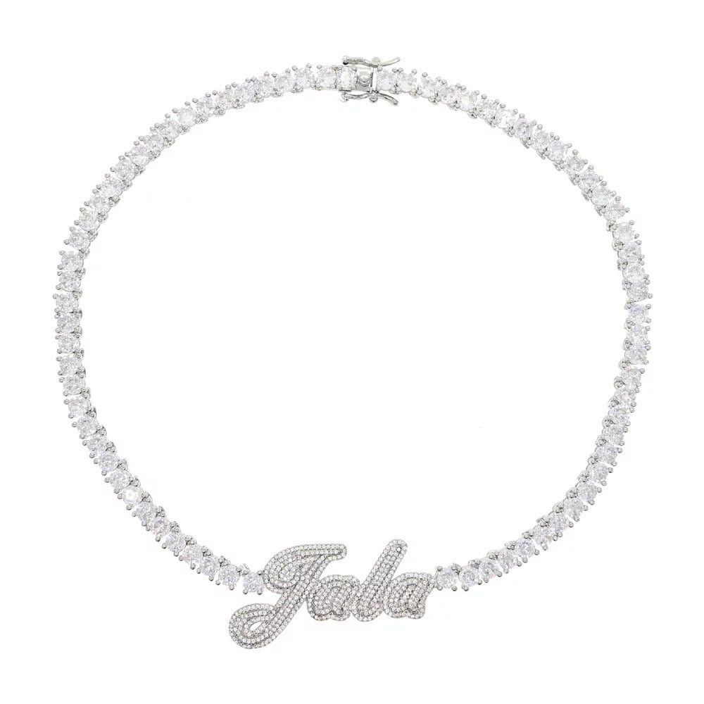MBC Icy Nameplate Tennis Necklace