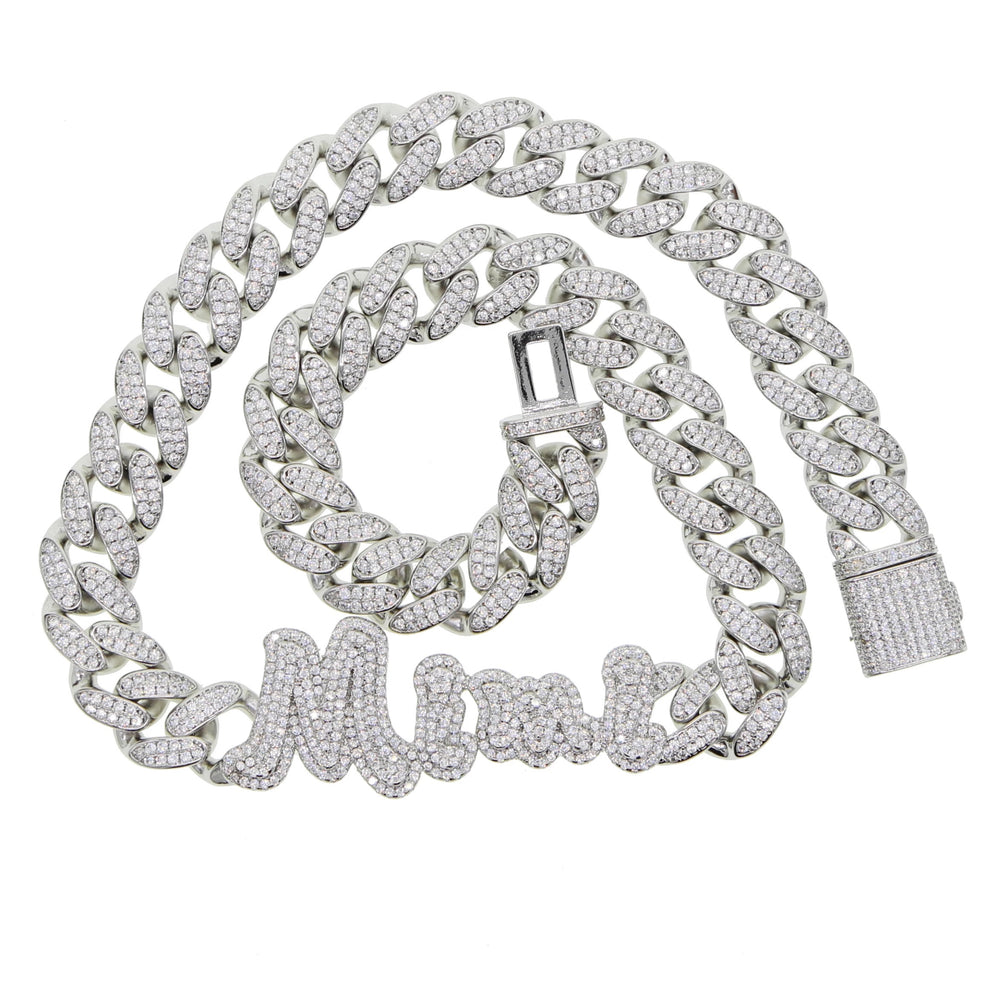 Load image into Gallery viewer, MBC Icy Nameplate Cuban Link