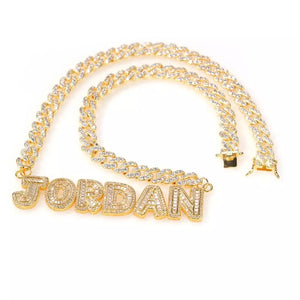Load image into Gallery viewer, Keaira Nameplate Cuban Link | Gold