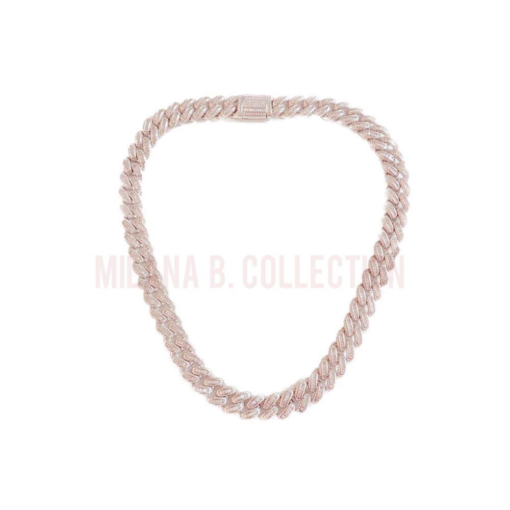 Load image into Gallery viewer, Silver Baguette Cuban Link