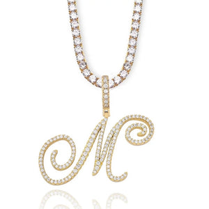Load image into Gallery viewer, MBC Initial Tennis Necklace | Gold