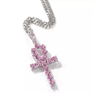 Regular Pink Ankh Necklace