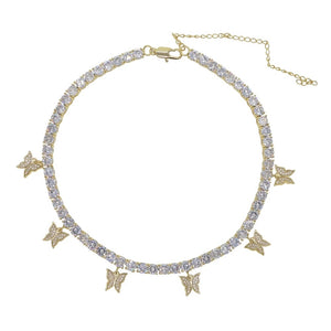 Icy Butterfly Choker | Gold