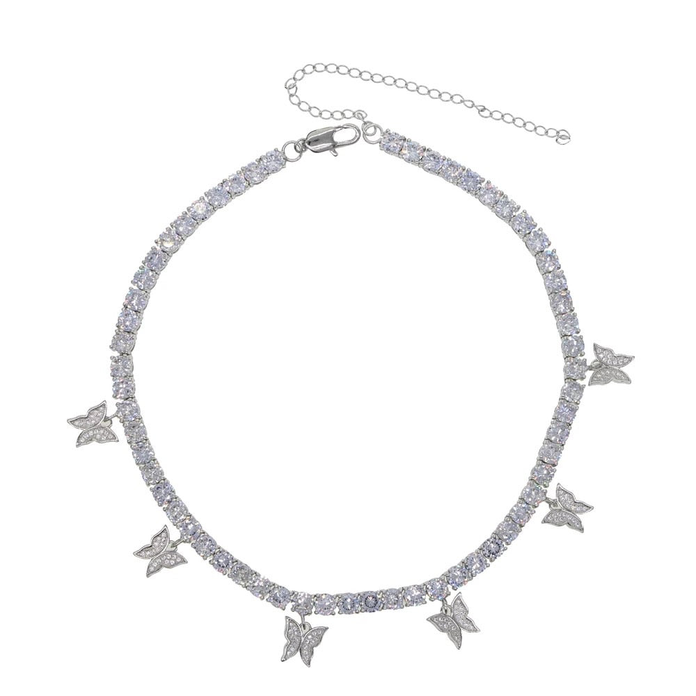 Icy Butterfly Choker | Silver