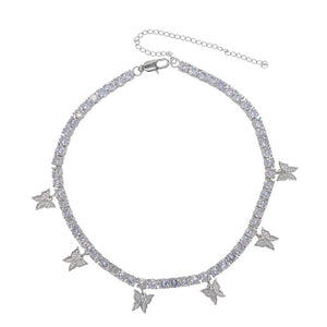 Load image into Gallery viewer, Icy Butterfly Choker | Silver