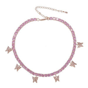 Load image into Gallery viewer, Barbie Butterfly Choker | Rose Gold