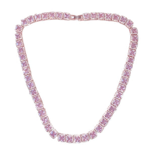 Load image into Gallery viewer, Icy Barbie Square Necklace