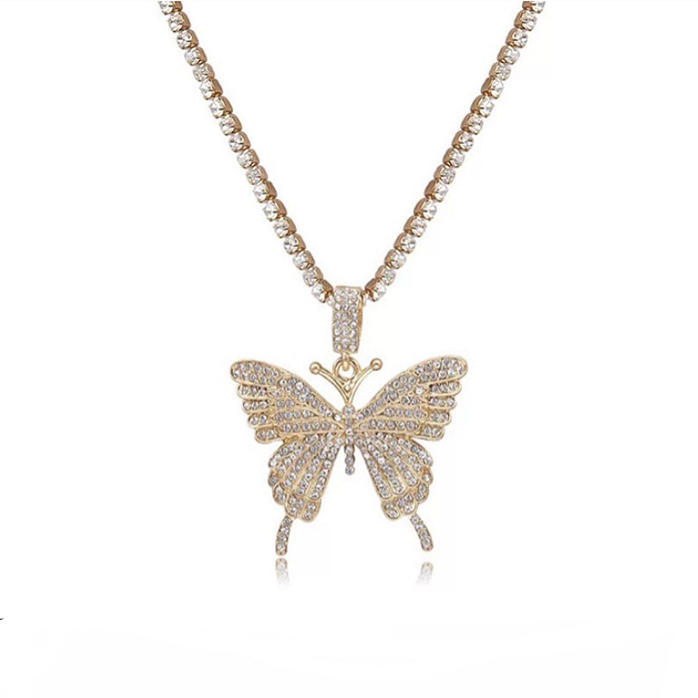 Icy Butterfly Necklace II