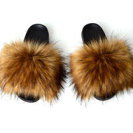 Fake Fox Fur Slippers