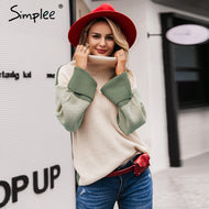 SIMPLEE: Turtleneck Sweater