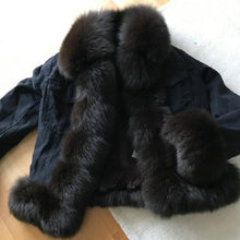 Load image into Gallery viewer, Real Fur European Denim Jacket