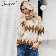 SIMPLEE: Elegant Knitted Sweater