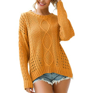 O- neck Cardigan Sweater