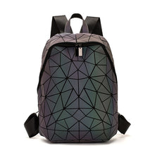 Load image into Gallery viewer, LOVEVOOK women backpack schoolbag for teenage girls luminous geometric backpacks for travel large capacity fashion for ladies