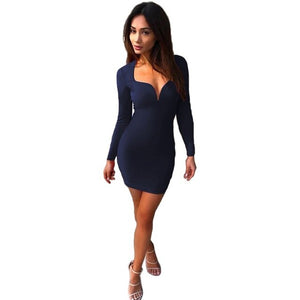 Slim Fit Party Mini Dress