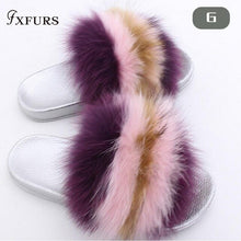 Load image into Gallery viewer, Fox Hair Slippers