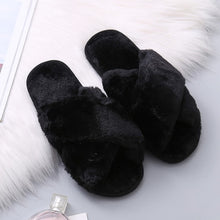 Load image into Gallery viewer, Faux Fur Slippers