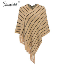 Load image into Gallery viewer, SIMPLEE: Tassel Stripe Sweater