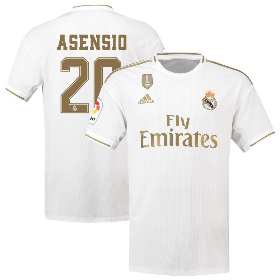 info for 727d3 bc1ac Real Madrid adidas 2019/20 Marco Asensio Jersey – White