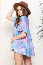 Load image into Gallery viewer, Tie Dye Baby Doll Top S-3X