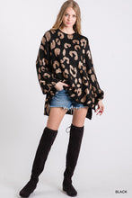 Load image into Gallery viewer, Metallic Leopard Print Oversized Sweater