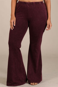 Mineral Wash Bell Bottom Pants *5 colors available*