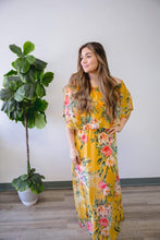 Load image into Gallery viewer, Yellow Floral Maxi Dress
