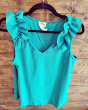 Load image into Gallery viewer, Ruffle Sleev Tank Top *4 Available Colors* S- XL