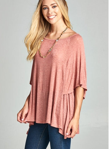 Light Knit Flowy Top in Small-3x