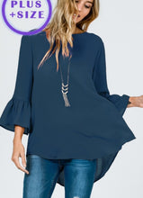 Load image into Gallery viewer, Bell Sleeve Top- Curvy  *4 Colors Available*