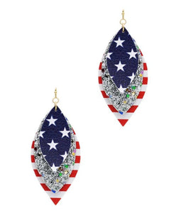USA Glitter Earrings