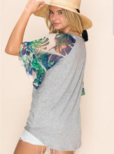 Load image into Gallery viewer, Tropical Sleeve Top -Curvy