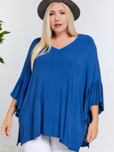 Load image into Gallery viewer, Curvy Ruffle Sleeve Top in 2 colors