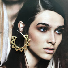 Load image into Gallery viewer, Solar Flare Gold Earrings