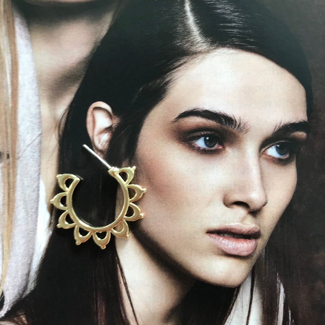 Solar Flare Gold Earrings