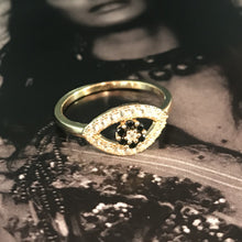Load image into Gallery viewer, Dark Matter Mini Ring Gold