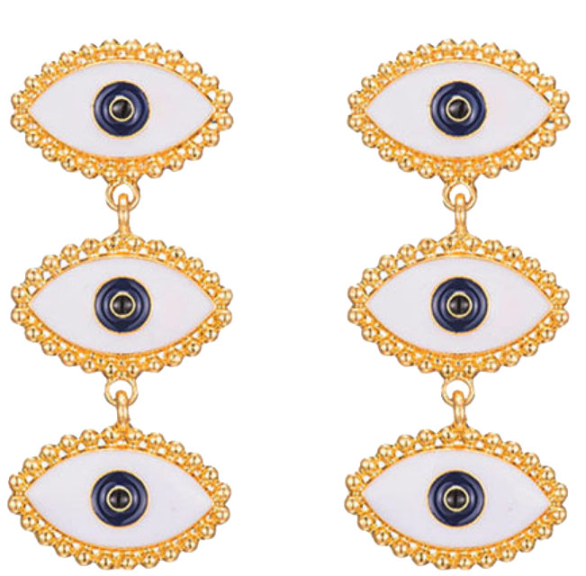 Third Eye Gold Earrings